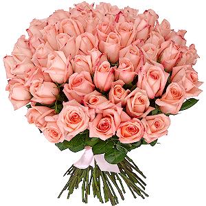 Букет из 75 розовых роз