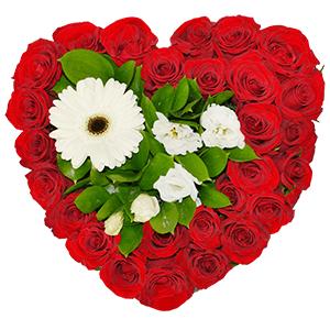 Композиции на 14 февраля - Цветочное сердце