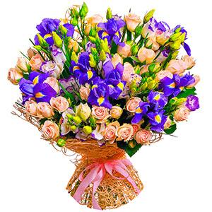 Дизайнерский букет +30% цветов с доставкой в Санкт-Петербурге