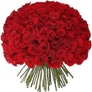 Букет из 101 красной розы с доставкой в Санкт-Петербурге