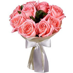 Букет из 9 розовых роз