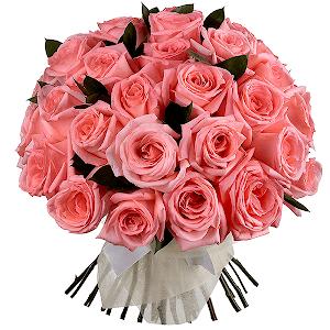 Букет из 35 розовых роз с доставкой в Санкт-Петербурге