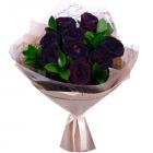 Букет из 9 чёрных роз